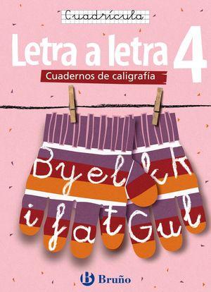 CALIGRAFÍA LETRA A LETRA CUADRÍCULA 4