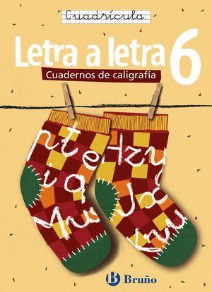 CALIGRAFÍA LETRA A LETRA CUADRÍCULA 6