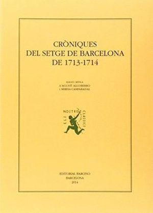CRÒNIQUES DEL SETGE DE BARCELONA DE 1713-1714