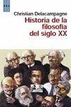 HISTORIA DE LA FILOSOFÍA DEL SIGLO XX