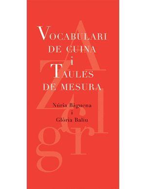 VOCABULARI DE CUINA I TAULES DE MESURA