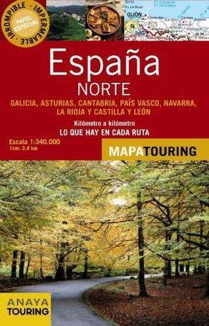 MAPA DE CARRETERAS 1:340.000 - NORTE DE ESPAÑA